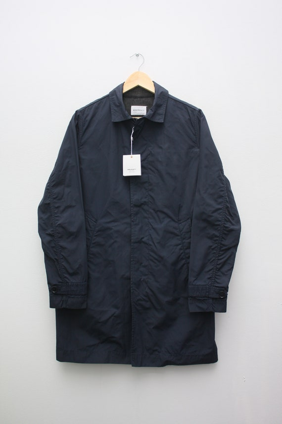 Norse Projects Thor Light Cotton Navy Blue Trench