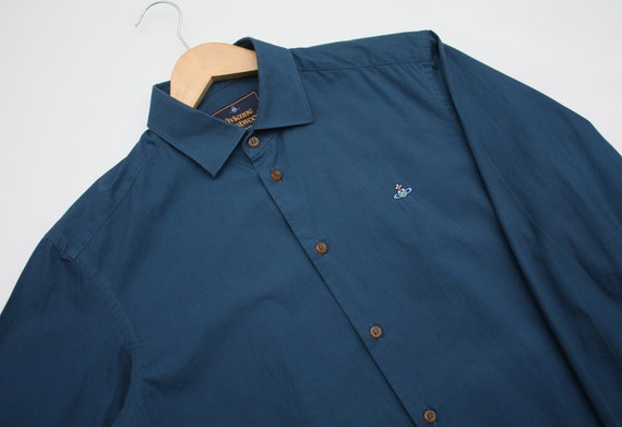 Vivienne Westwood Navy Long Sleeve Luxury Shirt