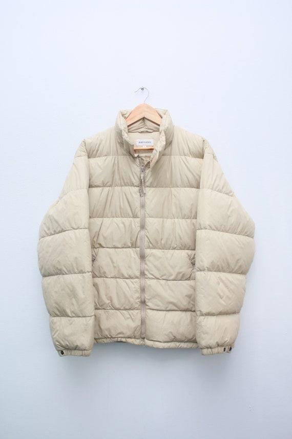 Alberto Aspesi Beige Goose Down Puffer Jacket