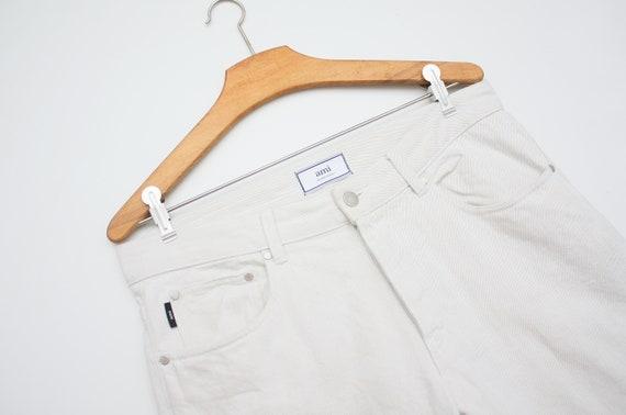 AMI Paris White Denim Jeans