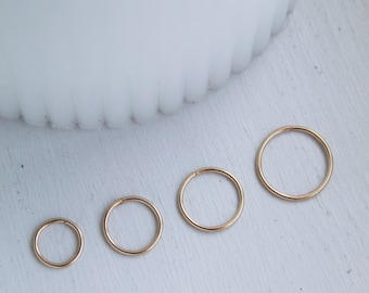 14K Gold Nose Ring, Gold Nose Ring, Nose Ring, Nose Hoop, Gold Nose Hoop, Nose Stud, Gold Nose Stud, Gift For Her, Minimalist Nose Hoop