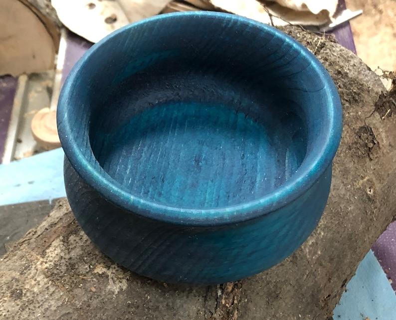 small bowl of blue dyed pine Mallard
