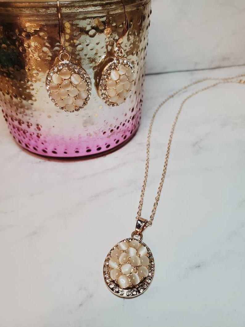 Light Gold Moonstone Set