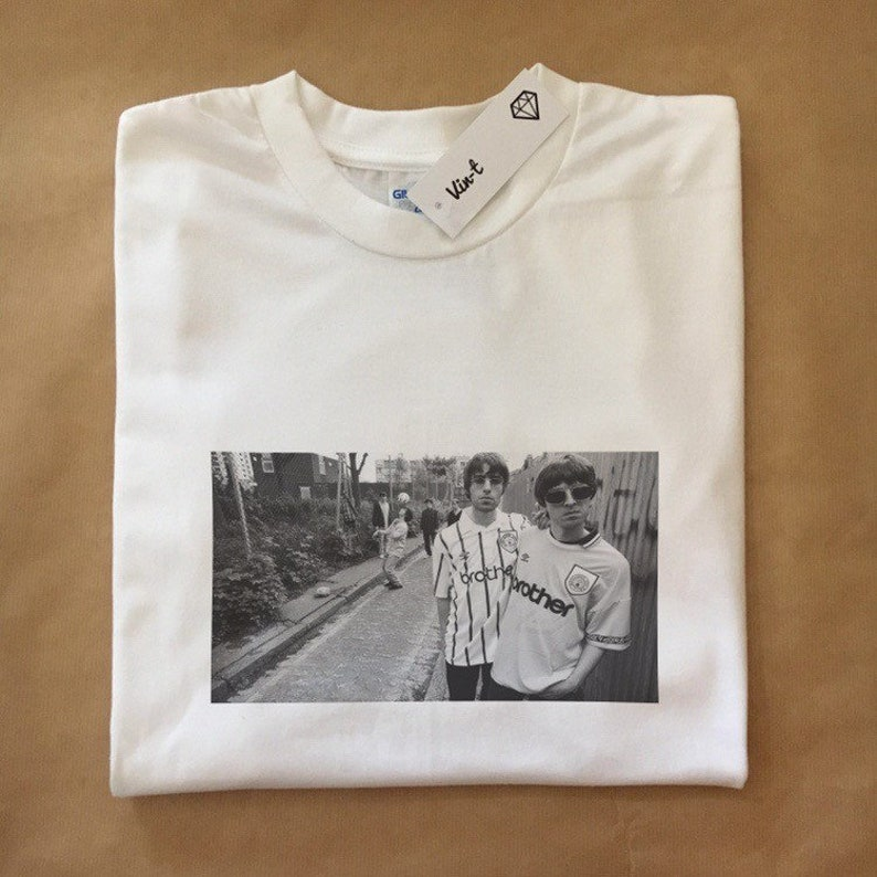 Oasis T shirt Gifts Oasis Gallagher Brothers Vintage Tees Music Gift  Vintage Shirt Gifts Best Friend Gifts Oasis Music Tees