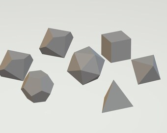 sharp edged dice set .stl files