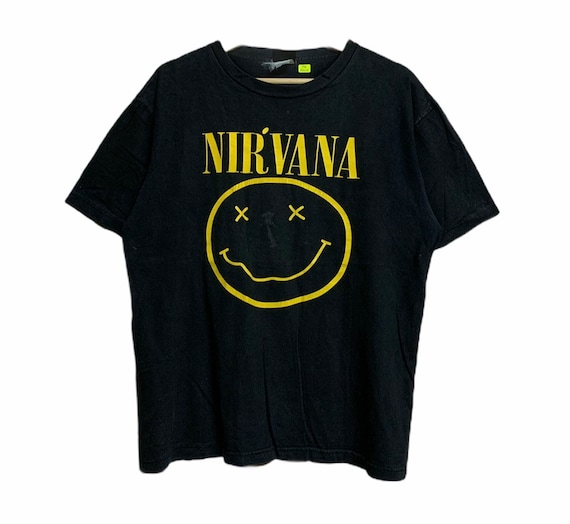 Vintage Bootleg Nirvana Smiley T Shirt Nevermind