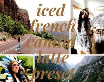 Iced French Vanilla Latte Preset // Mobile Lightroom Preset // Warm & Creamy Lightroom Presets / DNG