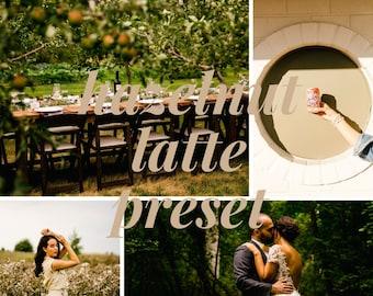Hazelnut Latte Preset // Mobile Lightroom Preset // Bright & Creamy Lightroom Presets / DNG