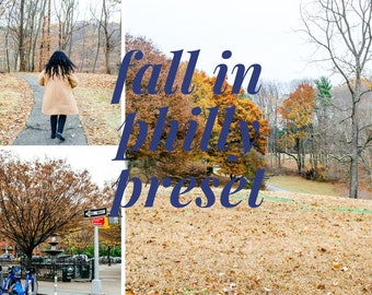 Fall in Philly Preset // Lightroom Presets / Bright & Airy Presets // City Presets // XMP