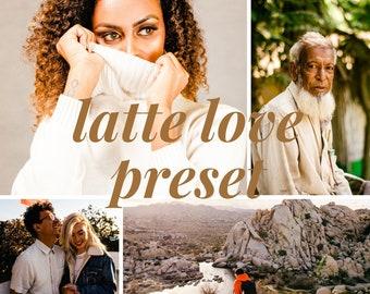 Latte Love Preset Pack // 3 Lightroom Mobile Presets // Bright & Creamy Lightroom Presets / DNG