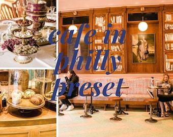 Cafe in Philly Preset // Mobile Lightroom Preset // Bright & Creamy 3 Lightroom Presets / DNG
