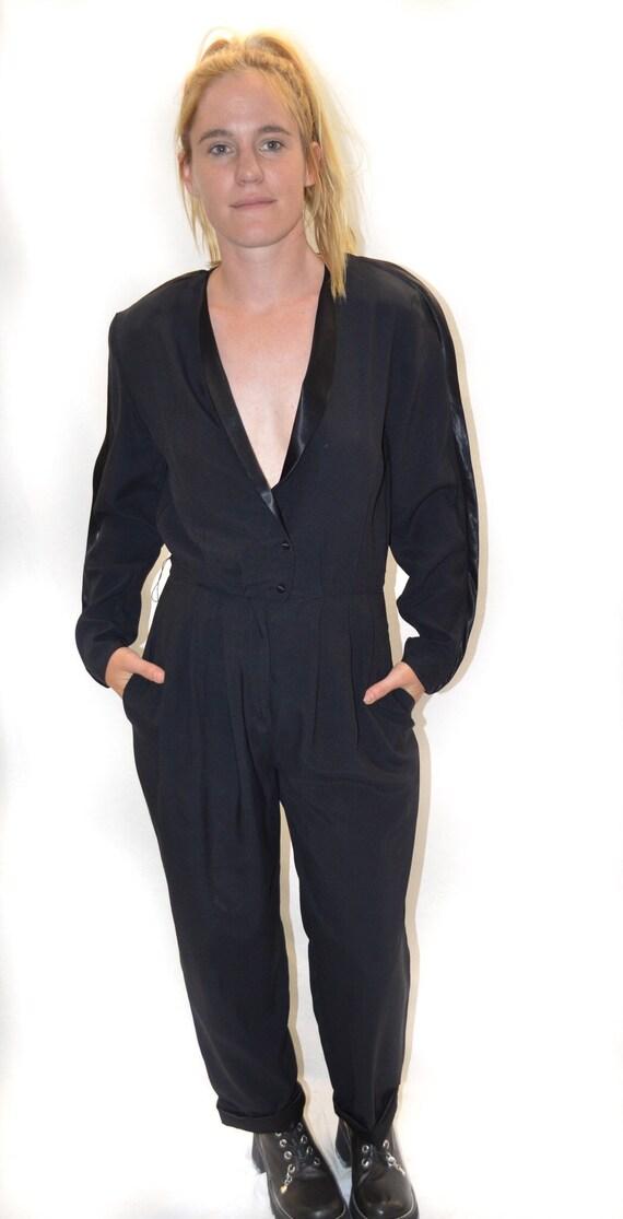 Vintage Jump Suit One Piece in Black