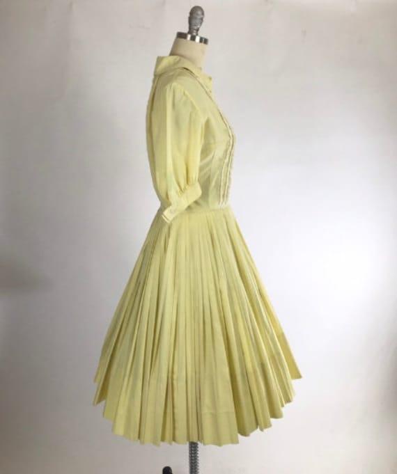 Vintage 1950s Shirtwaist Dress // 50s Cotton Day … - image 5