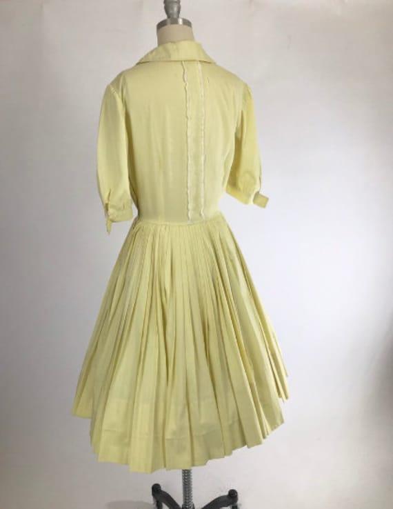 Vintage 1950s Shirtwaist Dress // 50s Cotton Day … - image 7