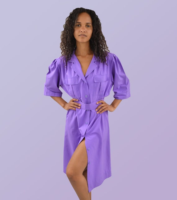 Vintage Lavender Trench Dress