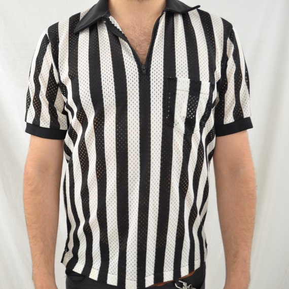 REFEREE MESH tee men's Large Made in USA
