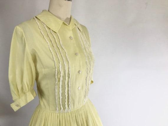 Vintage 1950s Shirtwaist Dress // 50s Cotton Day … - image 2