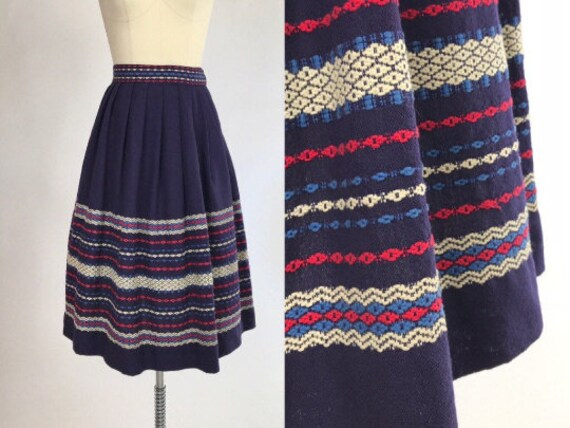Vintage 50s Fiesta Skirt // 1950s Patio Skirt // W