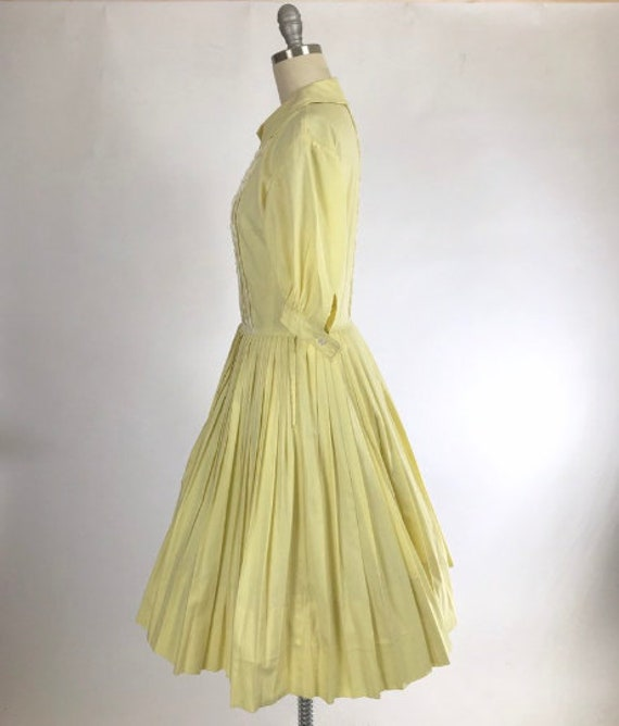 Vintage 1950s Shirtwaist Dress // 50s Cotton Day … - image 4