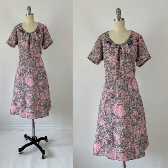 Vintage 60s Party Dress // 1960s Fancy Day Dress /