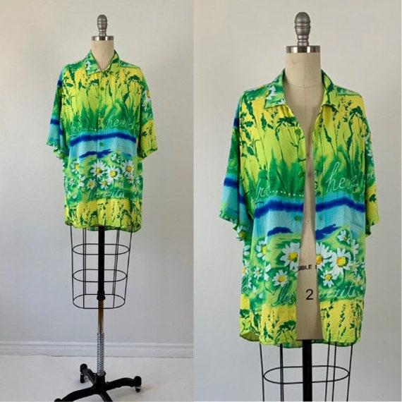 Vintage 80s Jams World Shirt // 1980s Abstract Jam