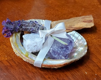 Peace Love and Luck Kit - Abalone Shell Kit