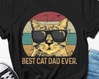 Best Cat Dad Ever Men's Shirt, Funny Cat Dad T-shirt for Him, Cat Gift Shirt for Him, Cat Dad Father's Day Gift T shirt, Cat Dad Tee for Men