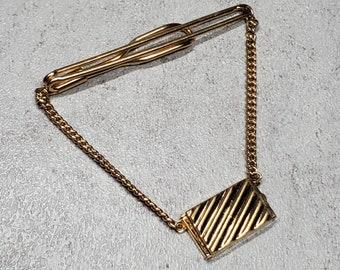 Mid century lion tie clip  silver pink 50/'s tie clip Swank vintage menswear  Christmas Holiday