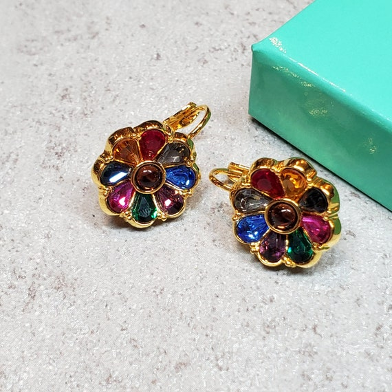 Joan Rivers jewelry, Rhinestone flower earrings c… - image 8