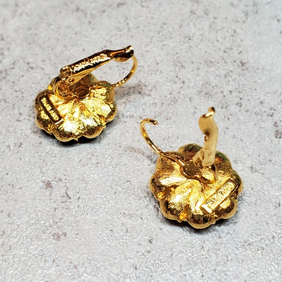 Joan Rivers jewelry, Rhinestone flower earrings c… - image 3