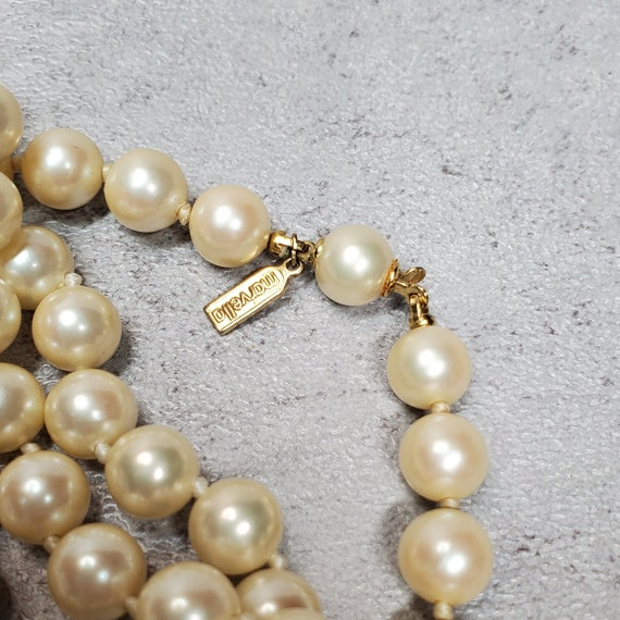 Marvella pearl necklace, Vintage long faux pearl … - image 5