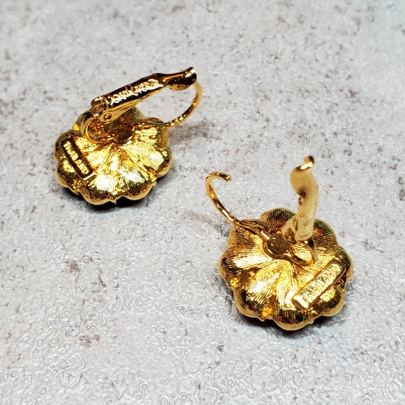 Joan Rivers jewelry, Rhinestone flower earrings c… - image 9