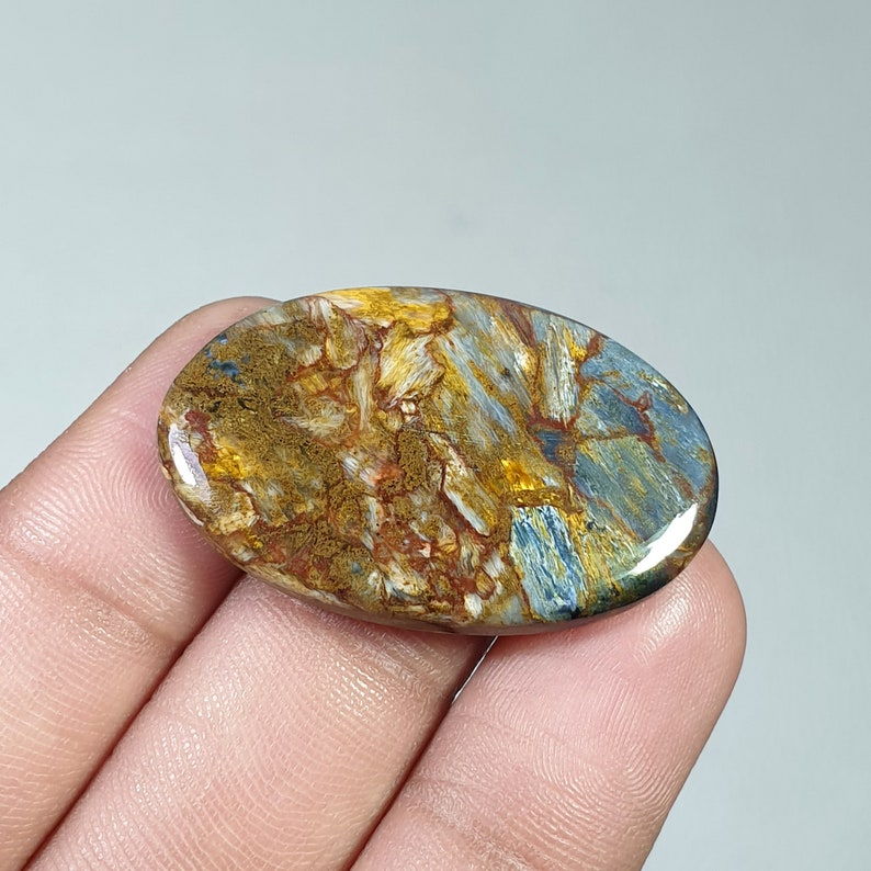 Natural Pietersite Oval Cabochon Rare Quality Loose Pietersite Gemstone For Making Jewelry 37x24x4MM 30Ct PTR-02
