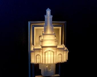 Raleigh North Carolina Temple Night Light Plug-in, LED