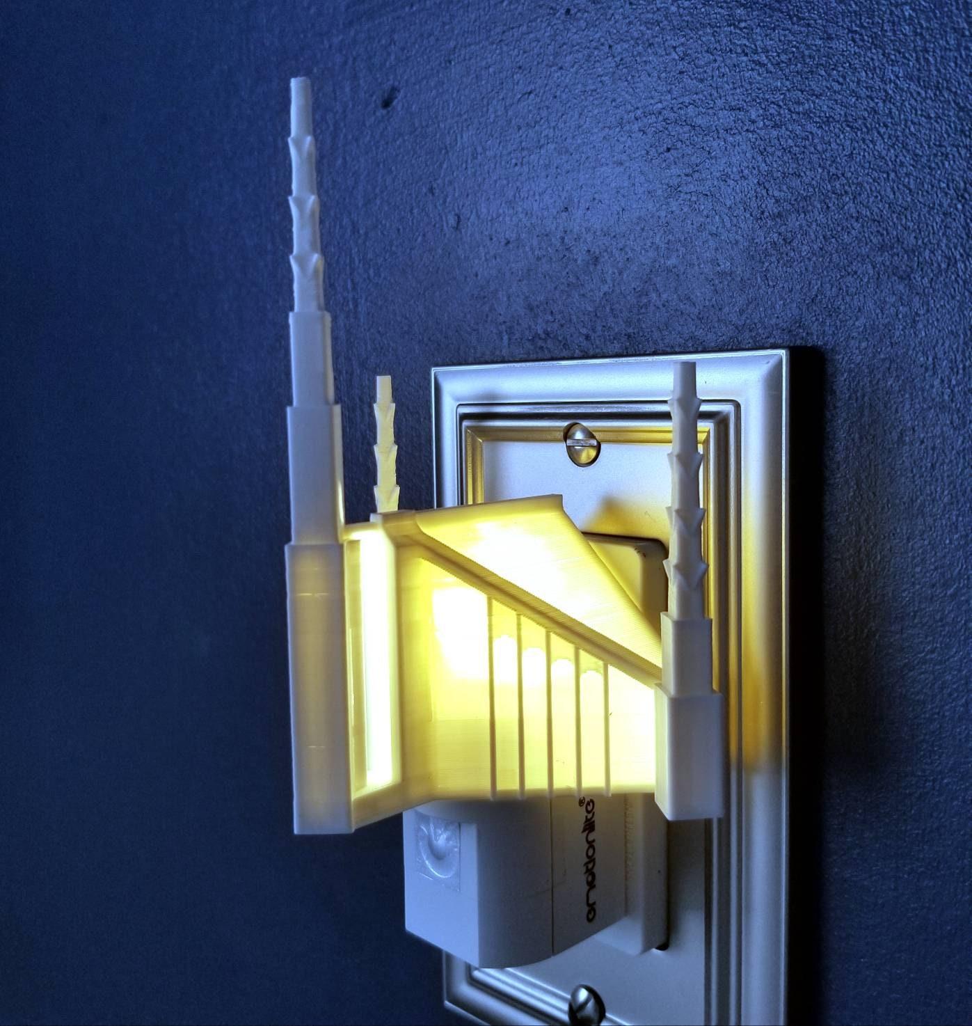 Oaxaca Mexico Temple Wall Night Light LED Plug-in LDS