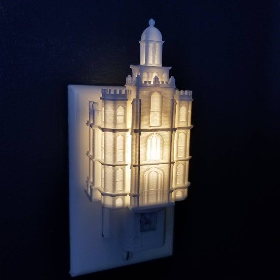 LED Brisbane Australia Temple Wall Night Light Plug-in LDS