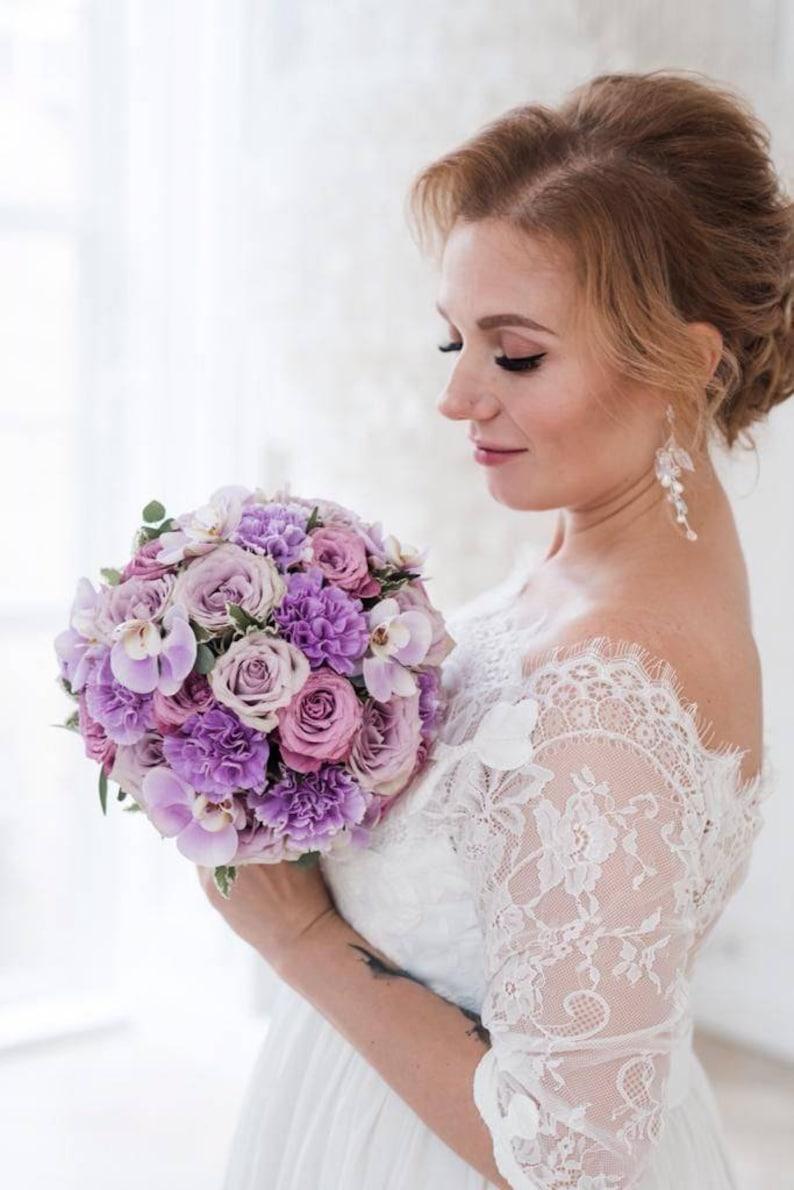 white floral earrings twig earrings with leaves wedding dangle earrings with pearls wedding white pearl earrings Bridal branch earrings