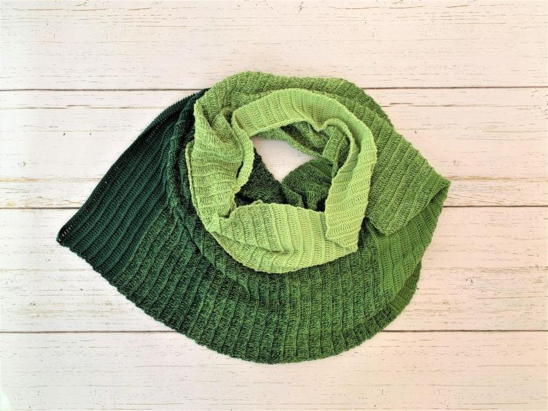 Emerald Asymmetrical Shawl image 0