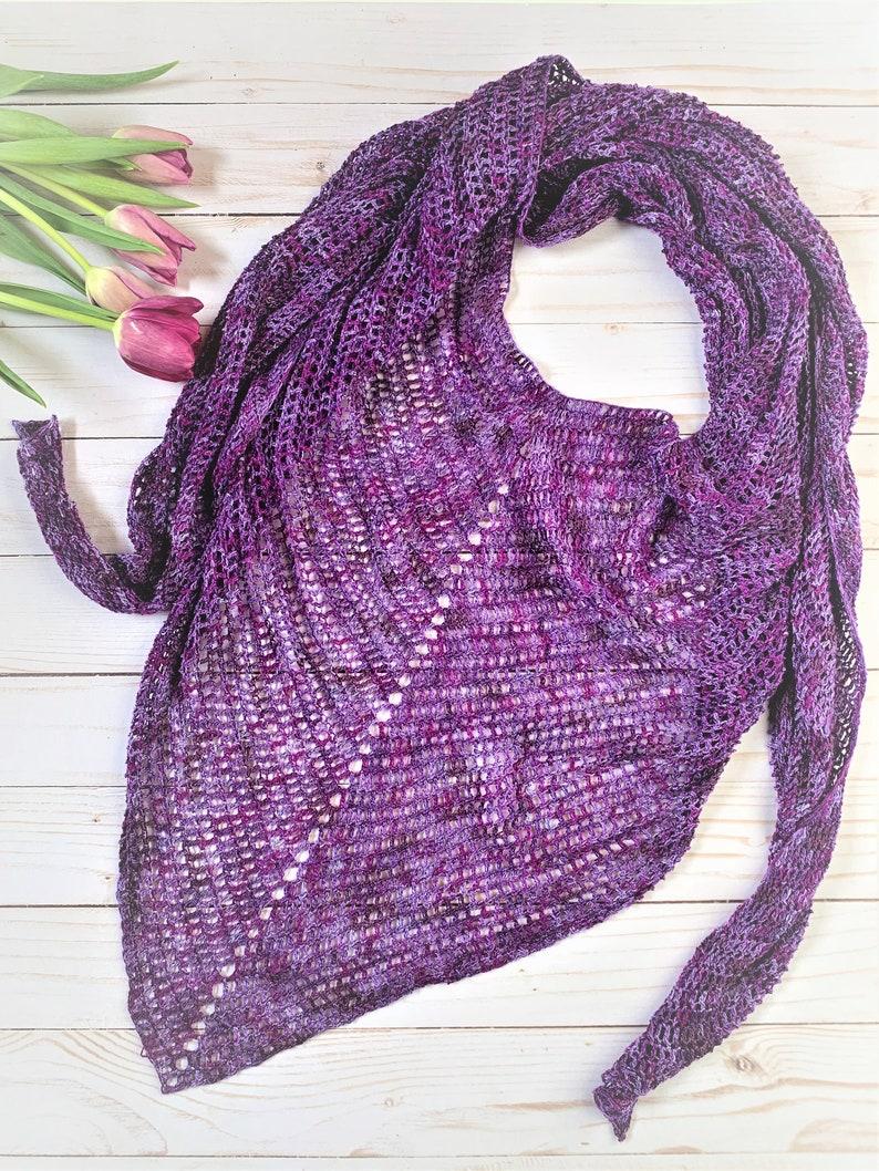 Amethyst Scarf Crochet Pattern image 0