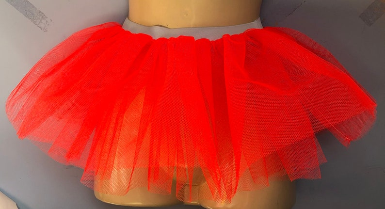 Orange Net Tutu Fancy Dress Halloween Tutu Child Tutu Double Net 10 Ins long