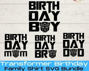 Transformer Birthday SVG Bundle | Family Shirts Transformers | Boys Birthday SVG | Transformers SVG | Transformer Birthday Shirt Svg