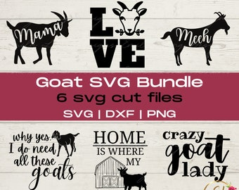 Goat SVG Bundle | Home is Where the Herd Is | Crazy Goat Lady SVG | Farm Svg | Goat Silhouette Svg | Farm Animals Svg | Goat Decal