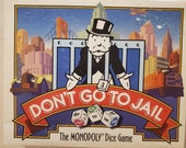 Don 39 t Go To Jail - Parker Brothers - 1991 - Vintage Dice Game