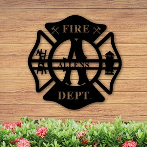 Personalized Custom 1 Line Firefighter Maltese Cross Fire Rescue Satin Chrome Plated Metal Money Clip