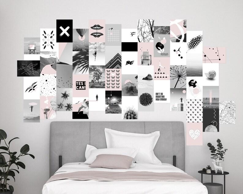 Minimalist wall collage kit  set of 50 prints  size  A4 image 0