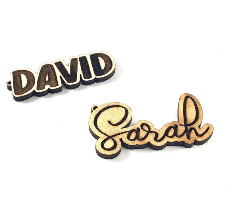 Personalized Engraved Wooden Keychain with Name
