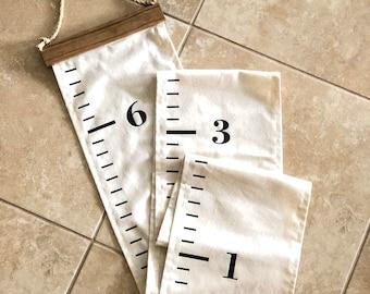 Fabric growth chart | fabric height tracker | portable growth chart | personalized growth chart