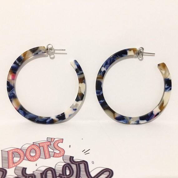acetate hoops acetate resin hoops acetate hoops multicoloured acetate hoops colourful hoops statement earrings