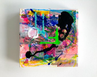 Original Abstract Painting on Canvas - Mixed Media - 2020 - By Kat Evans
