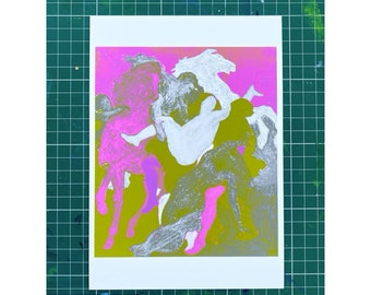 Untitled - includes Rape of the Daughters of Leucippus 1618- Limited Edition 1-25 - Signed and Dated - By Kat Evans.